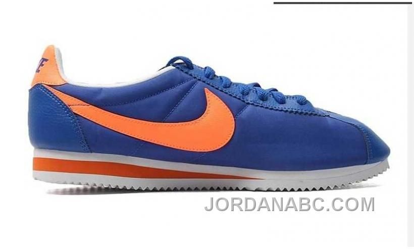 Nylon Mens Cortez Shoes Nike Blue-Orange