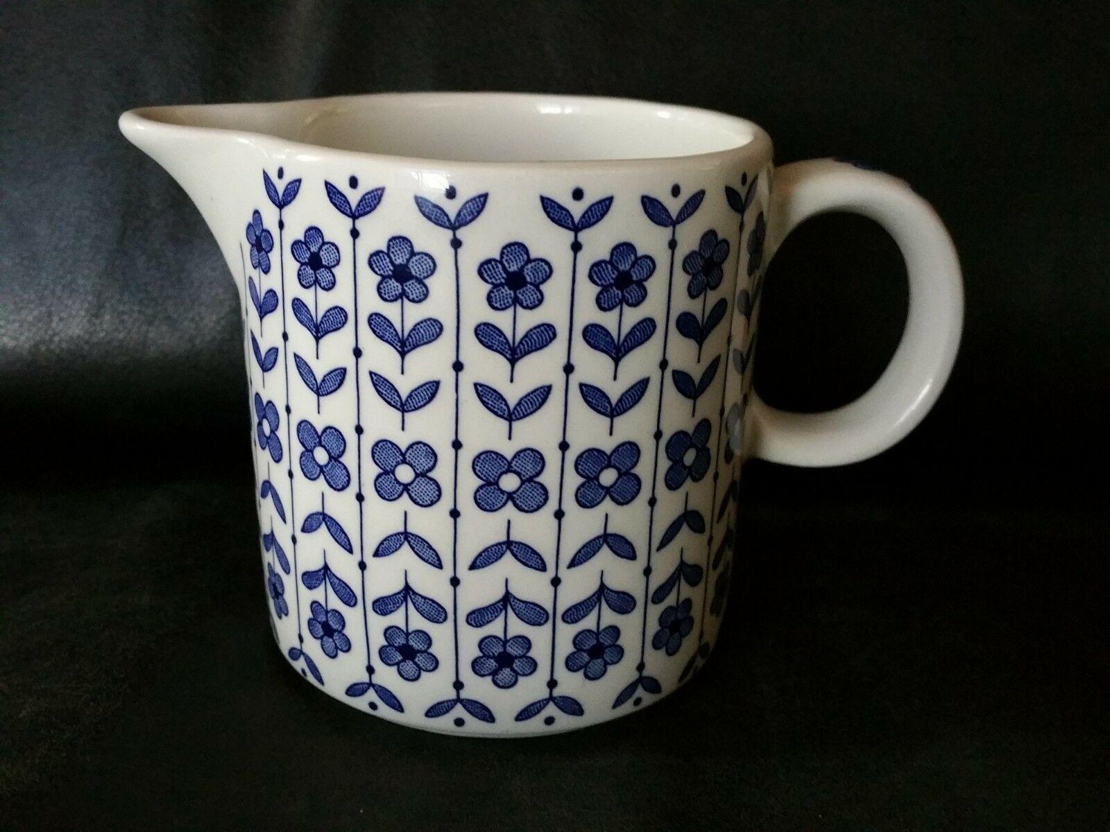 RARE Vintage BLUE FLOWERS COFFEE CREAMER BARRATTS