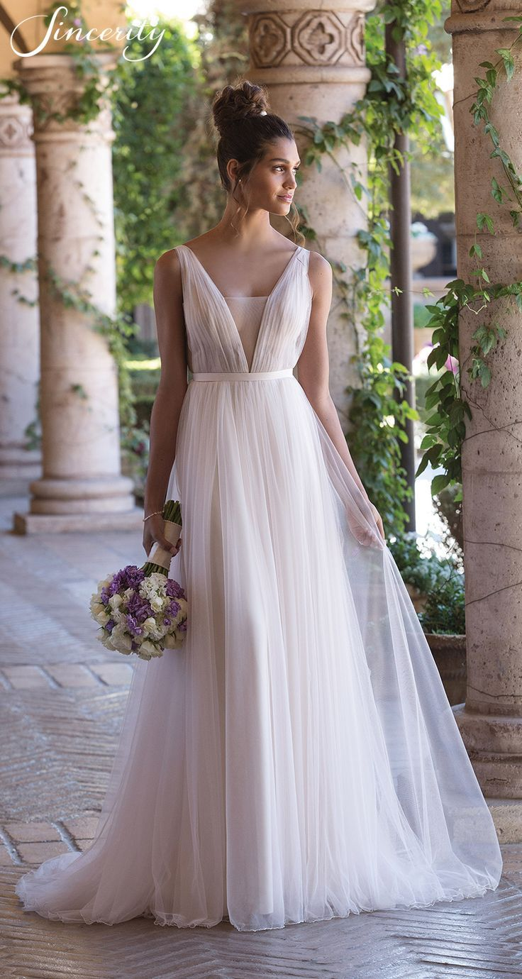 Sincerity wedding dress style 3850 #grecianweddingdresses