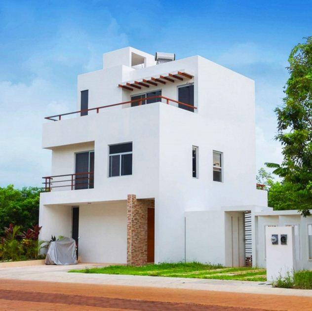 Fachadas minimalista de tres pisos arquitectura en 2019 for Fachadas de casas de 2 pisos pequenas