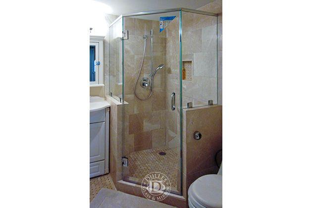 This Glass Shower Door Has Neo Angle Shower Frameless Shower