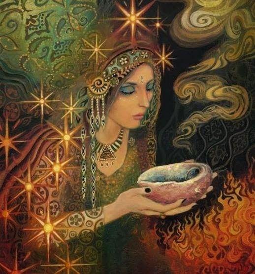 ***DIOSA DEL FUEGO ETERNO y FIDELIDAD*** Prender vela color anaranjado en su nombre para sentir su presencia, amistosa y cálida.