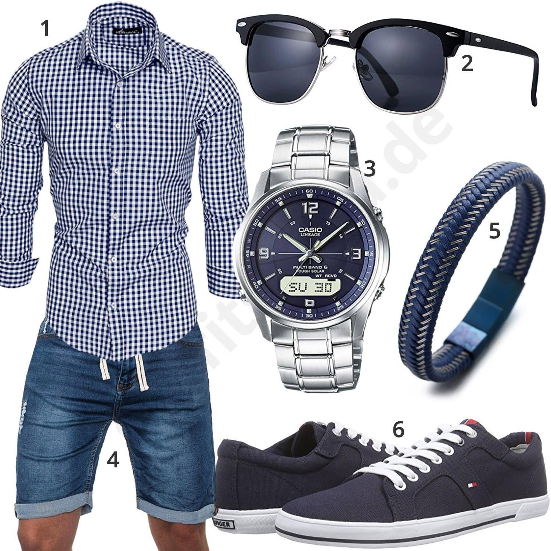 new products 02511 eb05a Sommer-Style mit Hemd, Shorts und Sonnenbrille   Men's ...