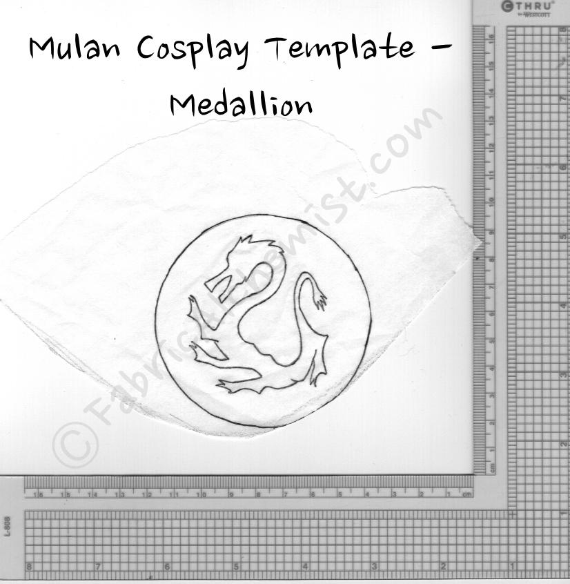 Mulan Medallion Template Mulan Jr Cosplay Templates Crafts