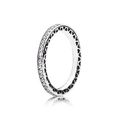 Bague Cœurs PANDORA | Colar de prata masculino, Anéis pretos ...