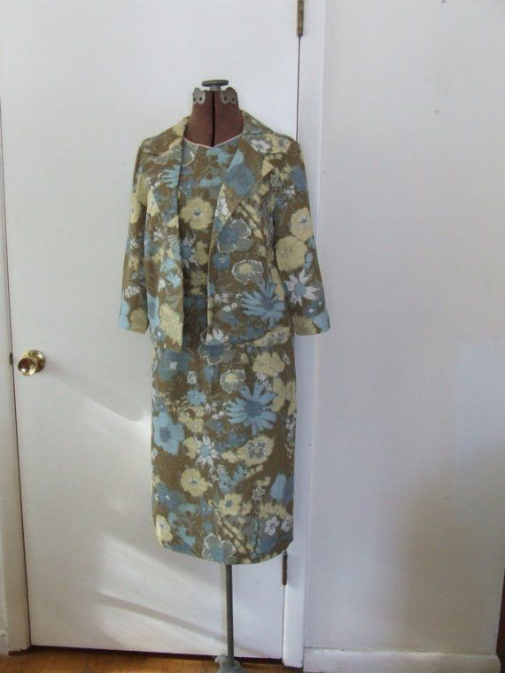 Neutral Floral 1960s Sundress with Matching by StilettoGirlVintage, $38.00
