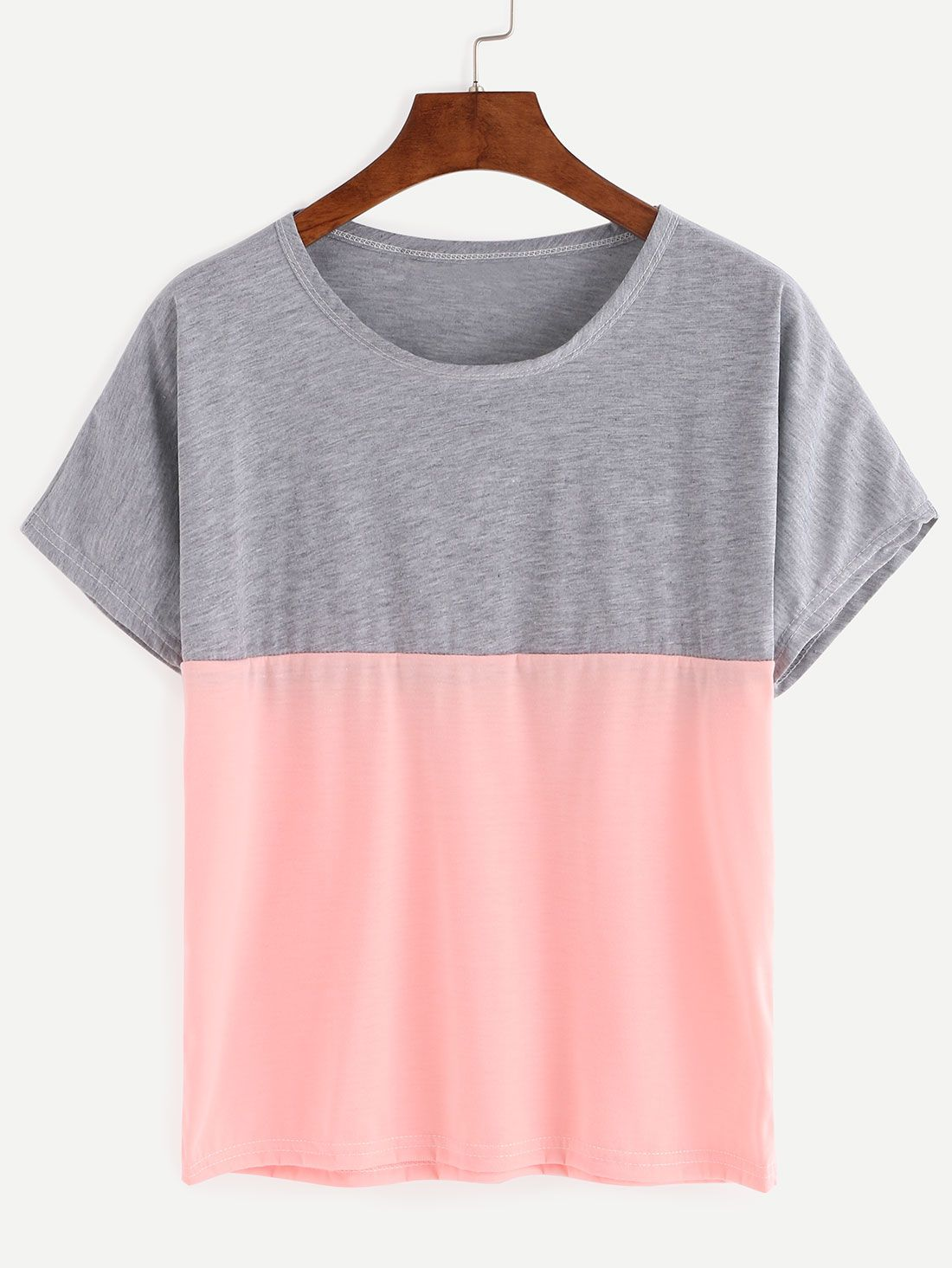 Color Block T-shirt | Color blocking, Gray and Clothes