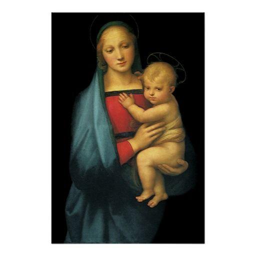 Madonna And Child, Madonna del Granduca by Raphael Poster | Zazzle.com