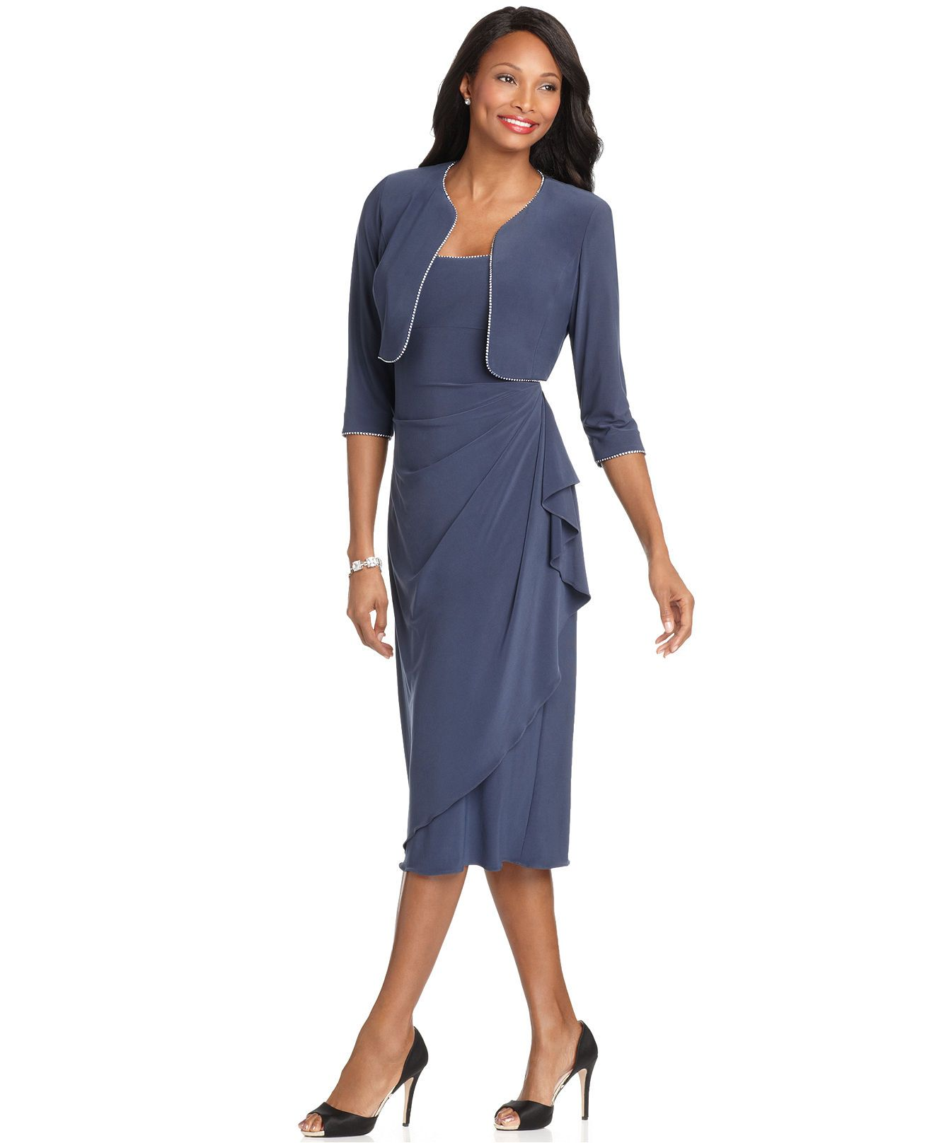 Macy's Alex Evenings Dress and Jacke-$189