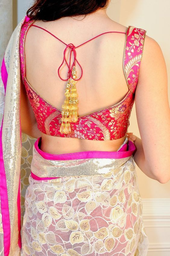 21 Latest Blouse Designs Pattern Indian Wedding #blousedesigns
