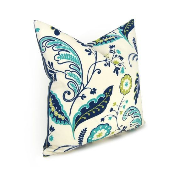 Turquoise and navy living room aqua navy green and cream - Navy blue and turquoise living room ...