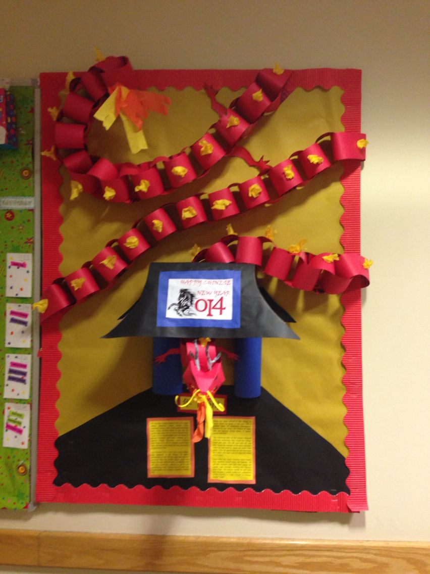 January Bulletin Board RA!! Chinese New Year, the year of ...