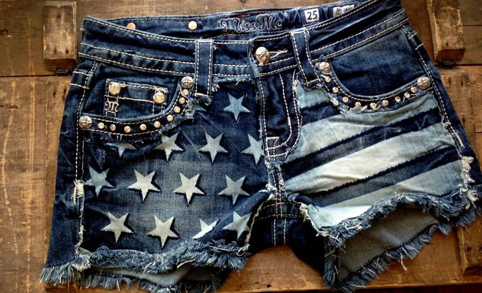 Pin By 1 Happy Girl Boutique On S H O P Country Outfits Clothes American Flag Shorts