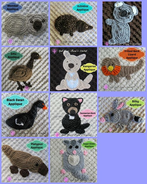 Knot Your Nana\'s Crochet: Australian Animals Blanket | Yarn + Hook ...