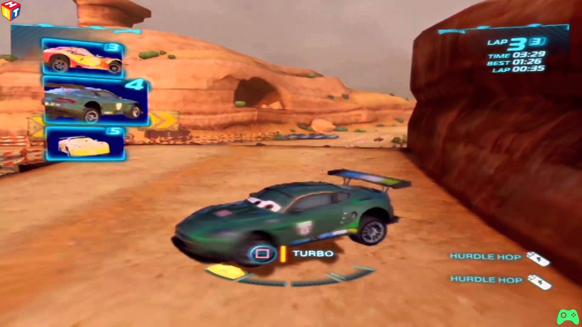 Cars 2 Nigel Gearsley Canyon Run Alive Battle Race