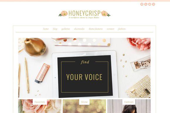 Honeycrisp- A Pretty WordPress Theme   Pinterest   Letras y Tarjetas