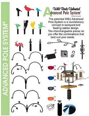 Advanced Pole System Wild Birds Unlimited Accessories Arms Side Dishes Suet Attachements Baffles Decor Wild Birds Unlimited Bird Feeders Wild Birds Photography