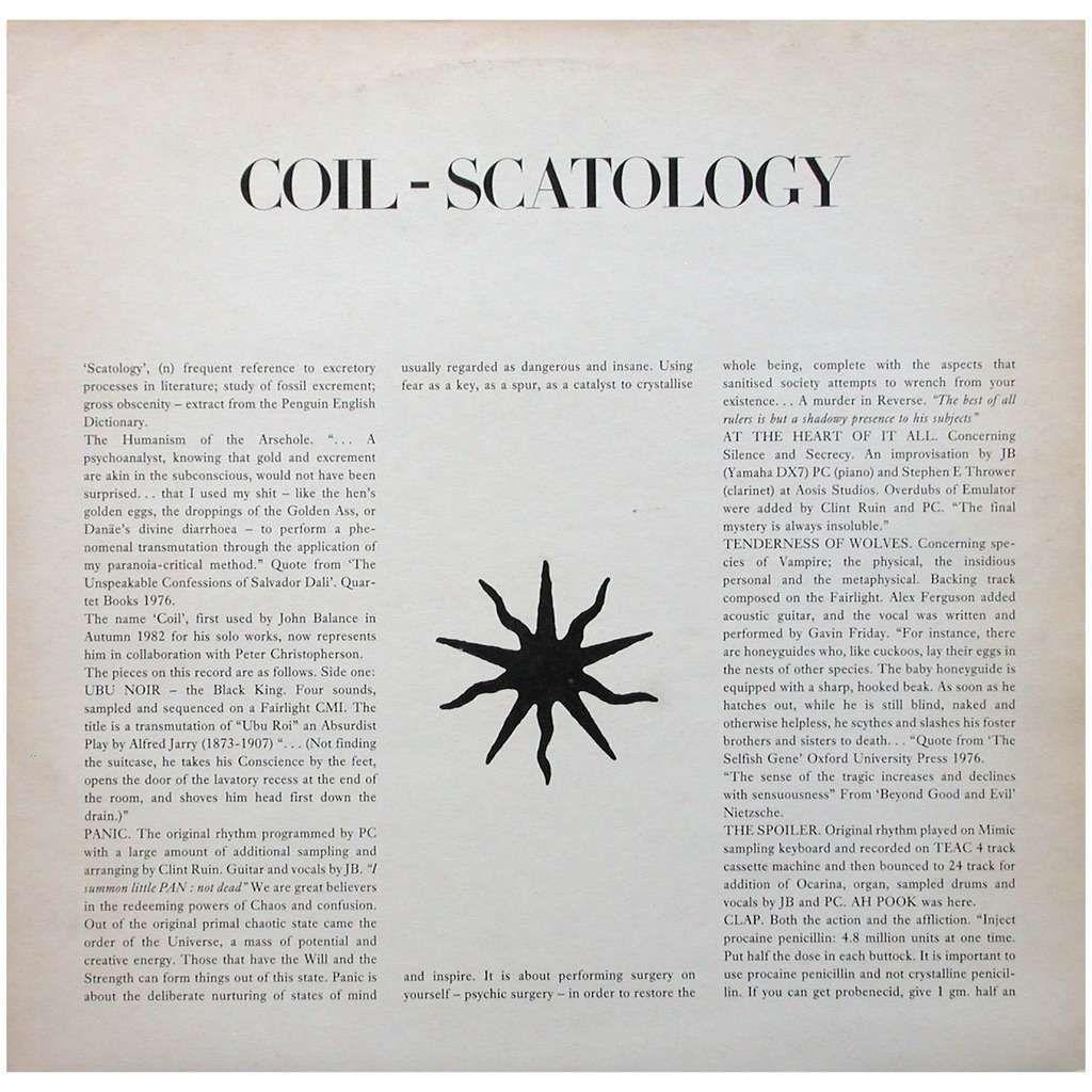 Resultado de imagen de coil scatology shirt