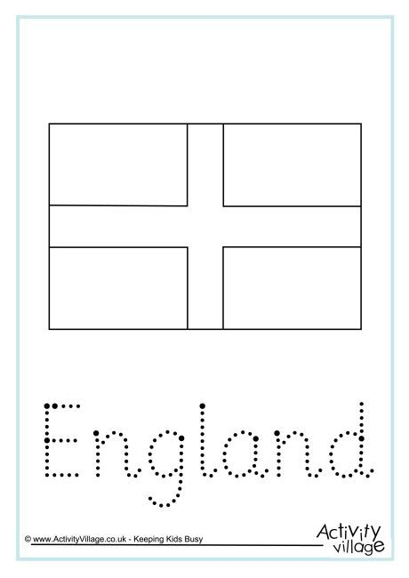 England Word Tracing England Flag Lion Coloring Pages St