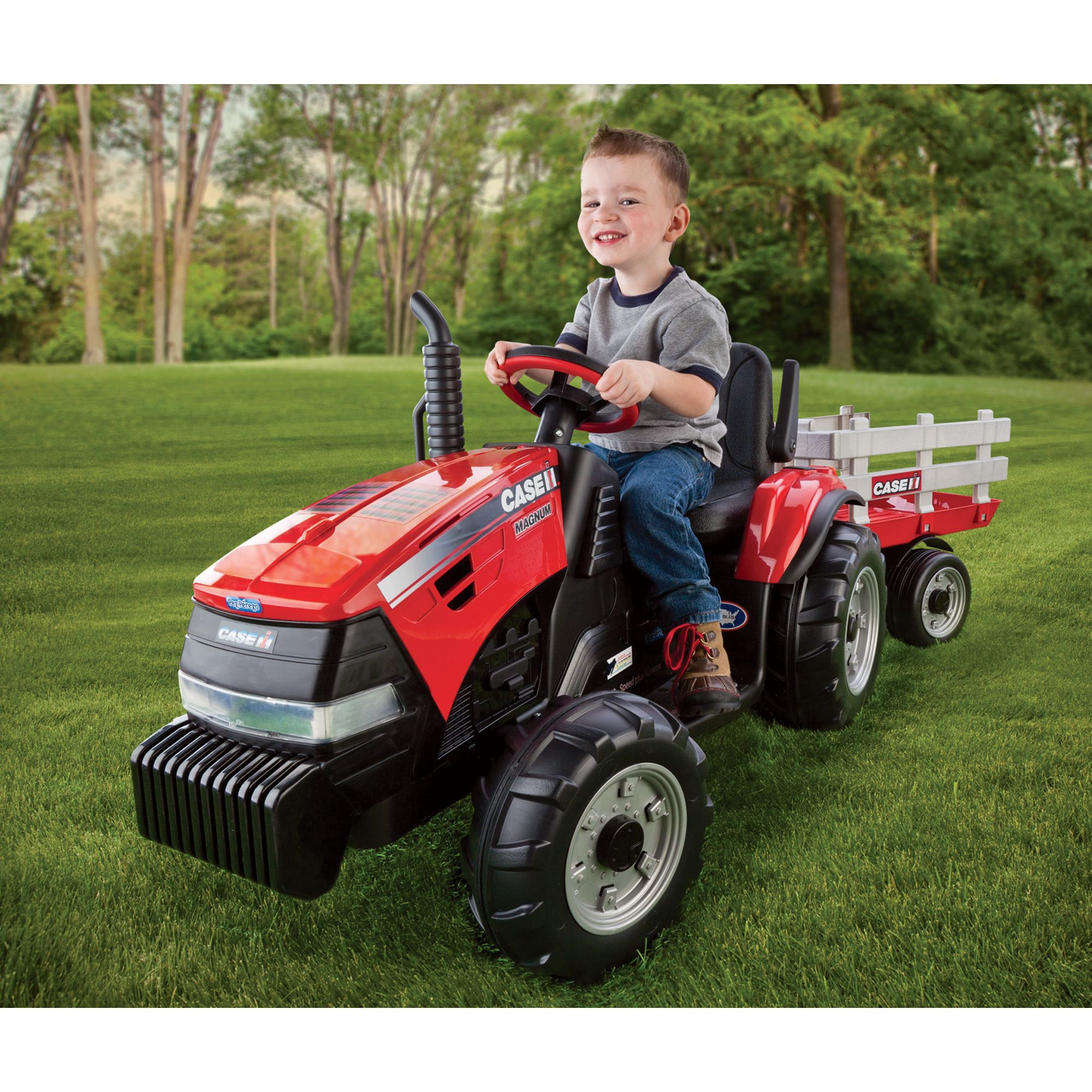 Case I H Magnum Battery Operated Ground Force 12 Volt Tractor With Trailer Model Igor0055 Diggers Ride Ons Northe Kids Ride On Case Ih Tractors