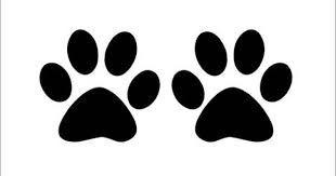 Resultado de imagen para huellas de perro para colorear