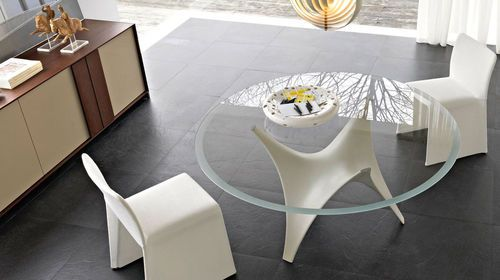 tavolo rotondo moderno in vetro arc by foster + partners molteni ... - Tavolo Rotondo Moderno Design