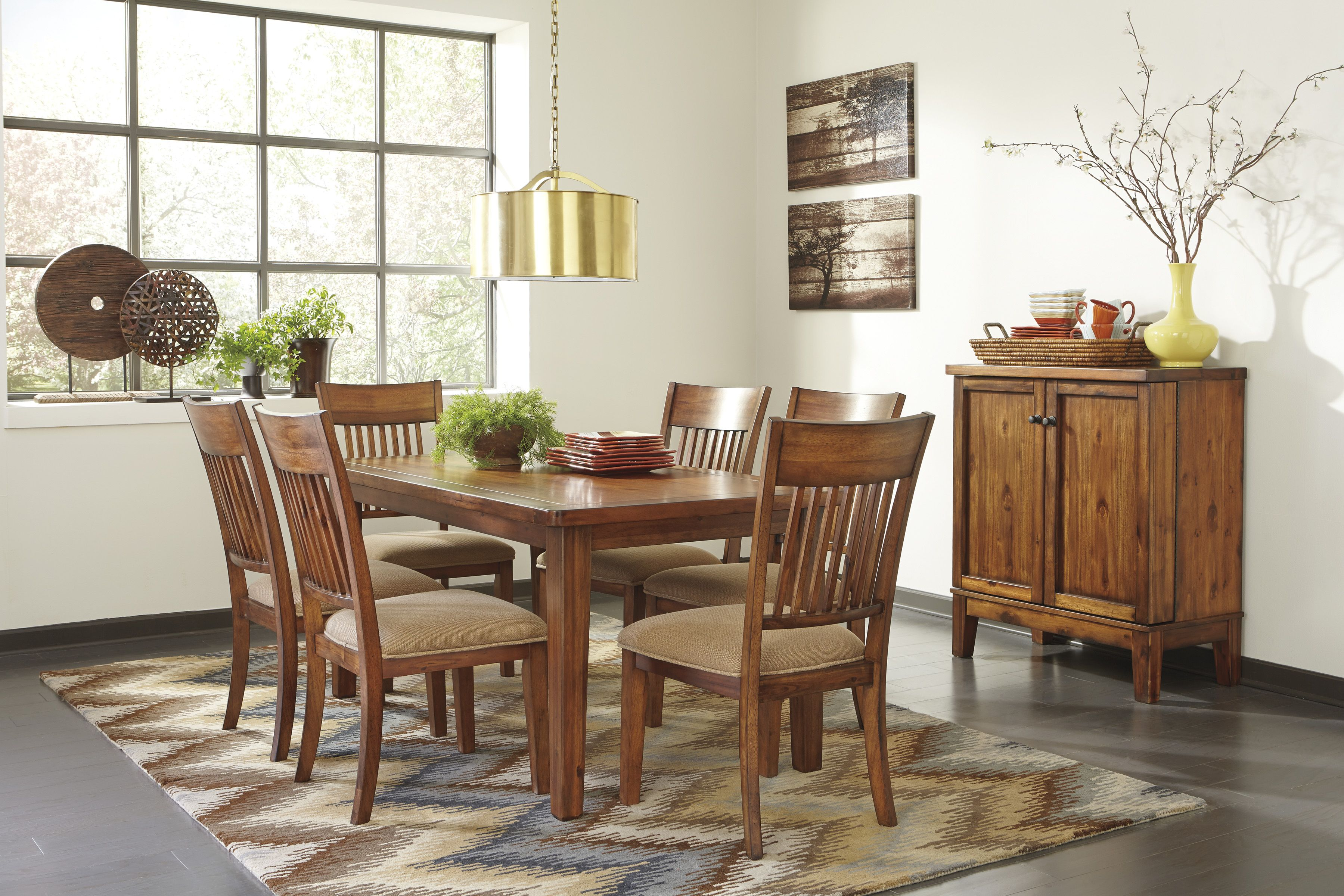The Shallibay Regular Height Dinette Pictured W 6 Chairs And Matching Server The Shallibay
