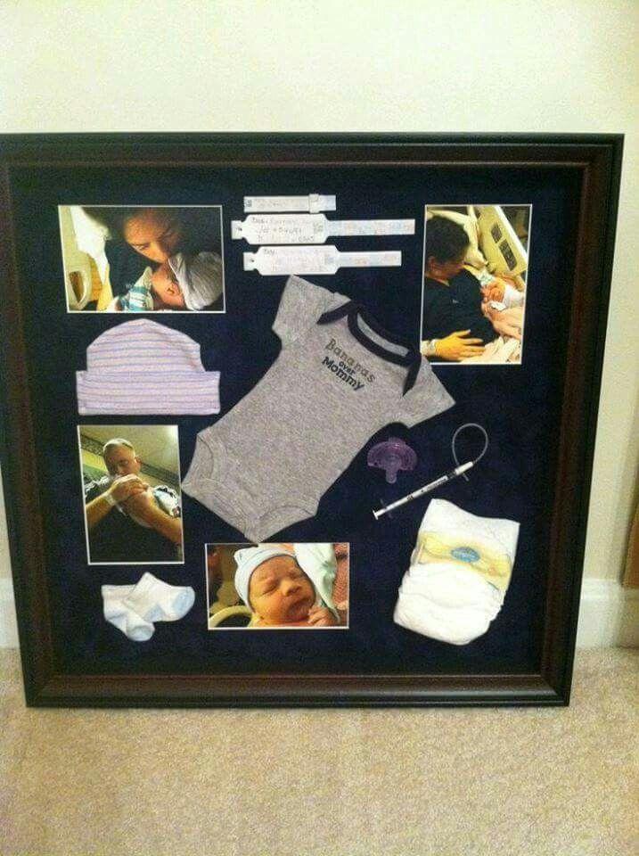 Ideas para organizar el primer cuadro de tu bebé   Decoraciones ...