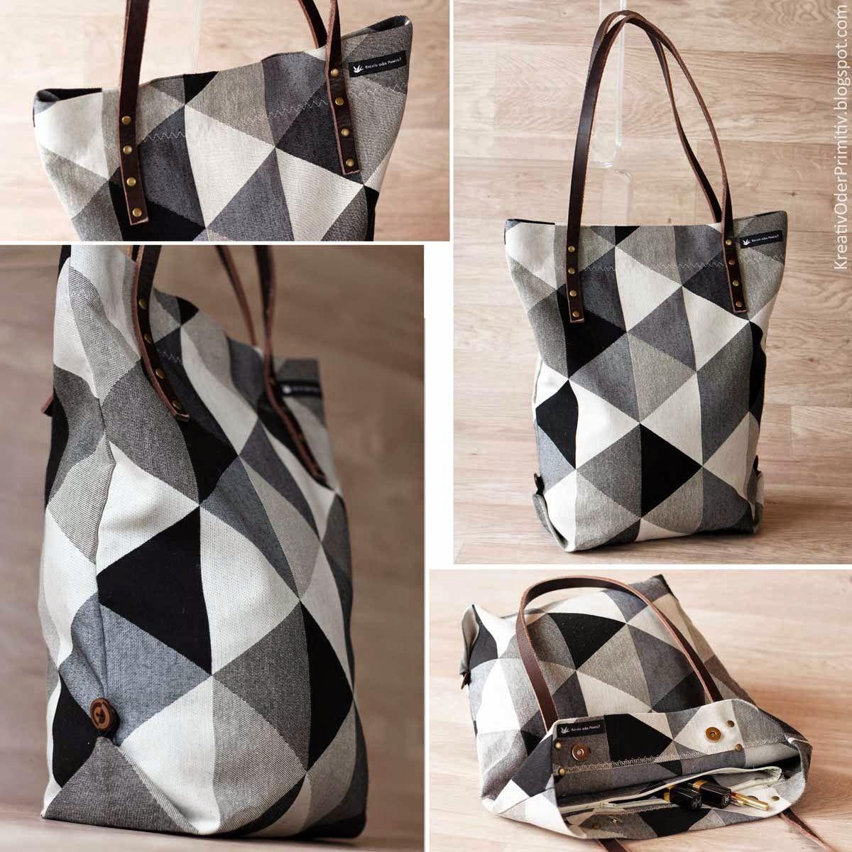 Schlichter Shopper Shopper, Tasche, Umhängetasche, Nähen, einfach ...