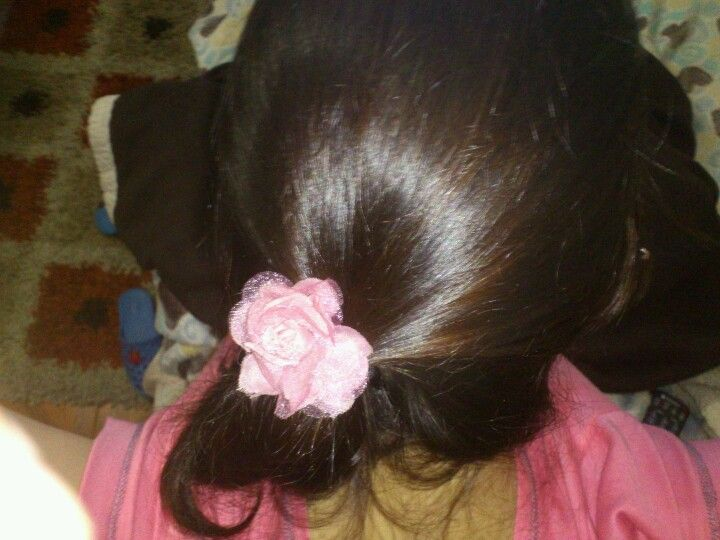 Rose in the hair