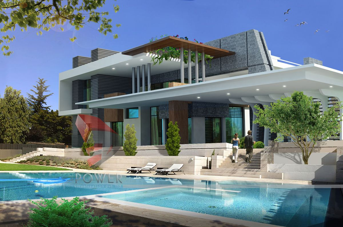 We Are Expert In Designing 3d Ultra Modern Home Designs Modern House Design Kerala House Design Bungalow Design Ultra modern modern backyard with pool