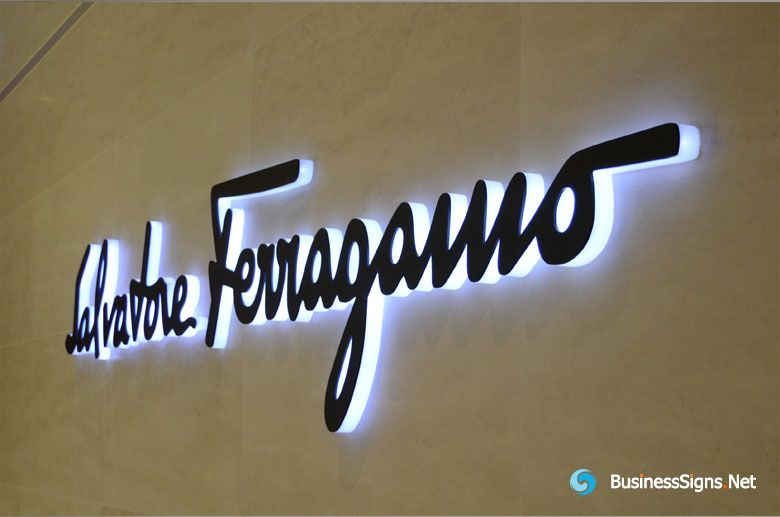 3d Led Side Lit Signs With Black Acrylic Front Panel For
