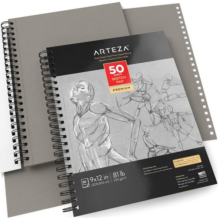 """Sketch Pad Toned Gray, 50 Sheets, 9x12"""""""