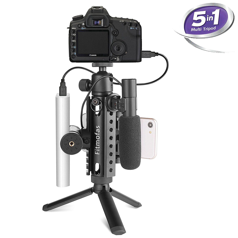 0d3308d2a09380 Mini Camera Tripod Kit-fitmofas Portable Travel Tripod-tabletop trépied  pour appareil photo avec support pour smartphone Mount-aluminum Picatinny  Tri-rail ...