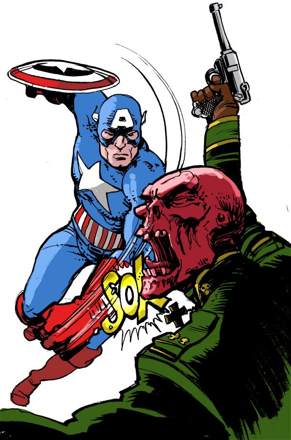 Captain America vs. The Red Skull - Simon Fraser