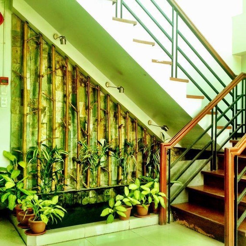 Cool 49 Stunning Under Stair Garden Ideas Land Scape | Outdoor Garden Under Stairs | Small | Crosstie | Gardening | Landscaping | Lawn
