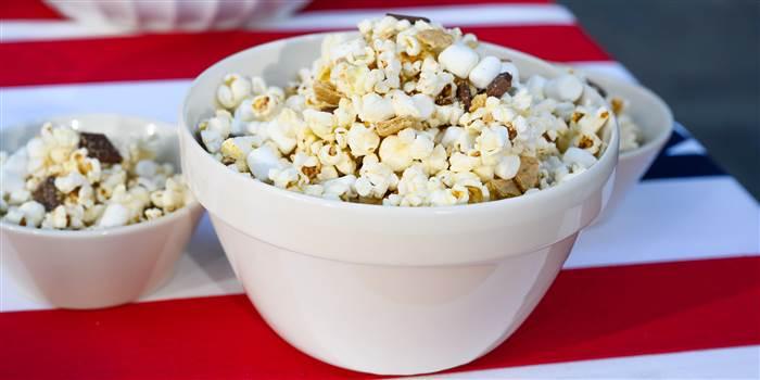 Siri S Grilled S Mores Popcorn Recipe Food Recipes Yummy Snacks Popcorn Recipes