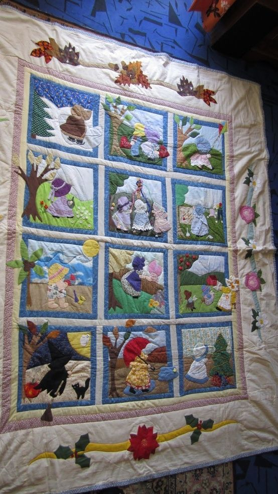 Gratis Patronen Patchwork.Baltimore Quilt Patterns Free Sunbonnet Sue Quilt Meiner