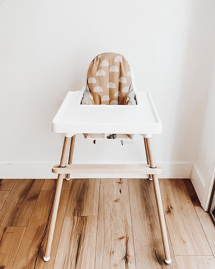 Ikea Highchair Upgrade Spray Paint Your Legs Gold And Get A Cute Cushion Cover And Placemat From Yeahbabyg Ikea High Chair Highchair Cover Antilop High Chair