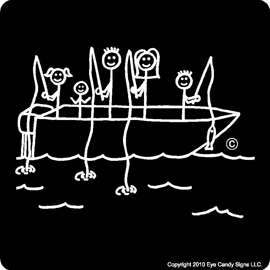 Fishing stick family car laptop sticker decal by for Fishing car stickers