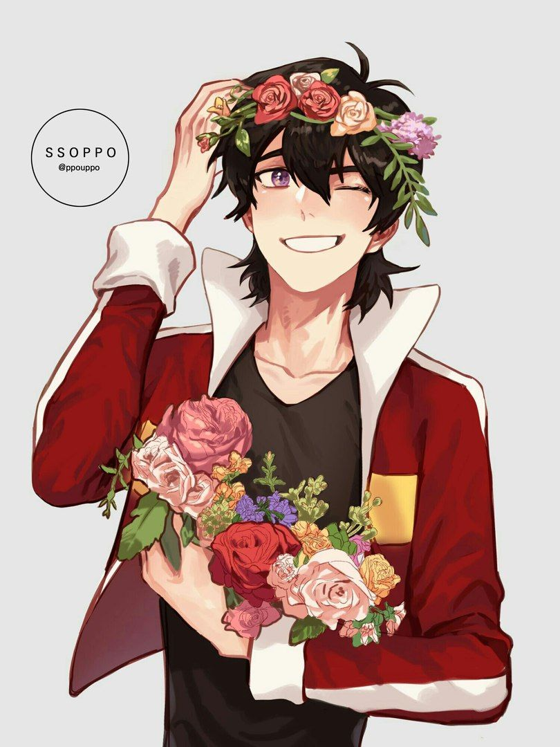 Voltron legendary defender cartoon keith voltron pinterest keith in a beautiful flower crown with a bouquet of flowers from voltron legendary defender izmirmasajfo Choice Image