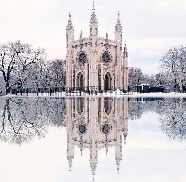 Gothic Chapel At The Alexandria Park,in Peterhof.A