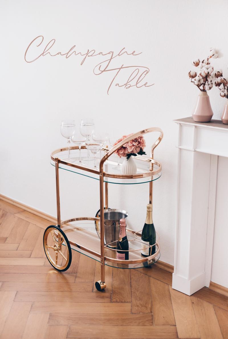 Barwagen Gold Vintage Servierwagen Bar Cart Parisian Life I Want