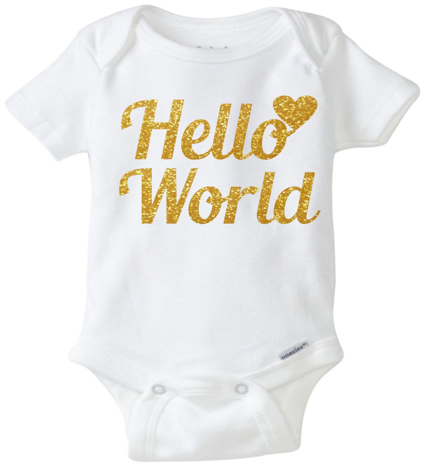 23a46d71 Hello world onesie baby onesie glitter shirt baby outfit baby shower gift  coming home outfit unisex baby clothing sparkle by mkclassyprints on Etsy