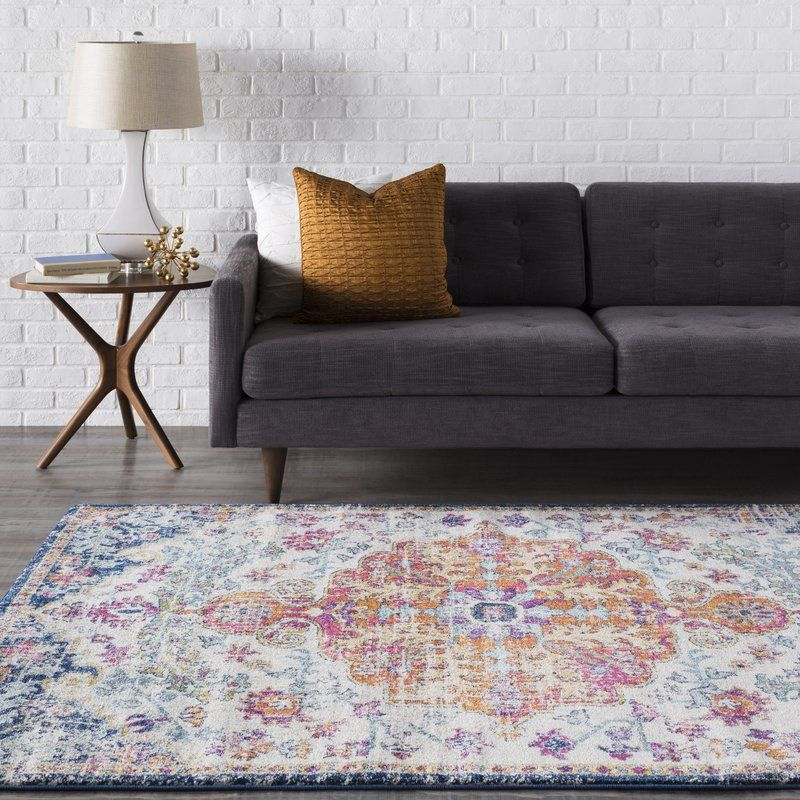 Hillsby Oriental Orange Navy Area Rug Rugs Area Rugs
