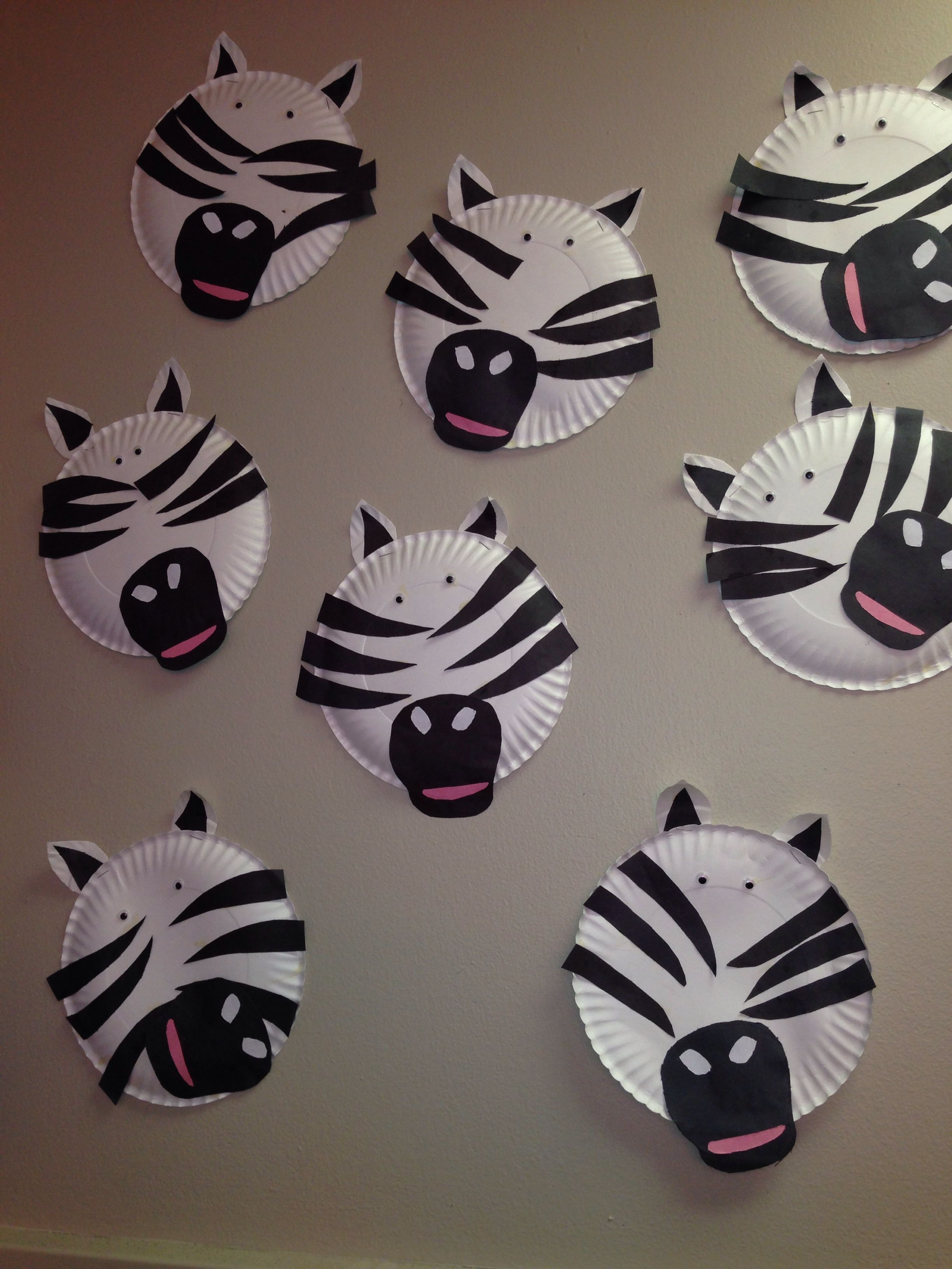 Paper Plate Craft Zebra Animal Week Zoo Animals Classroom