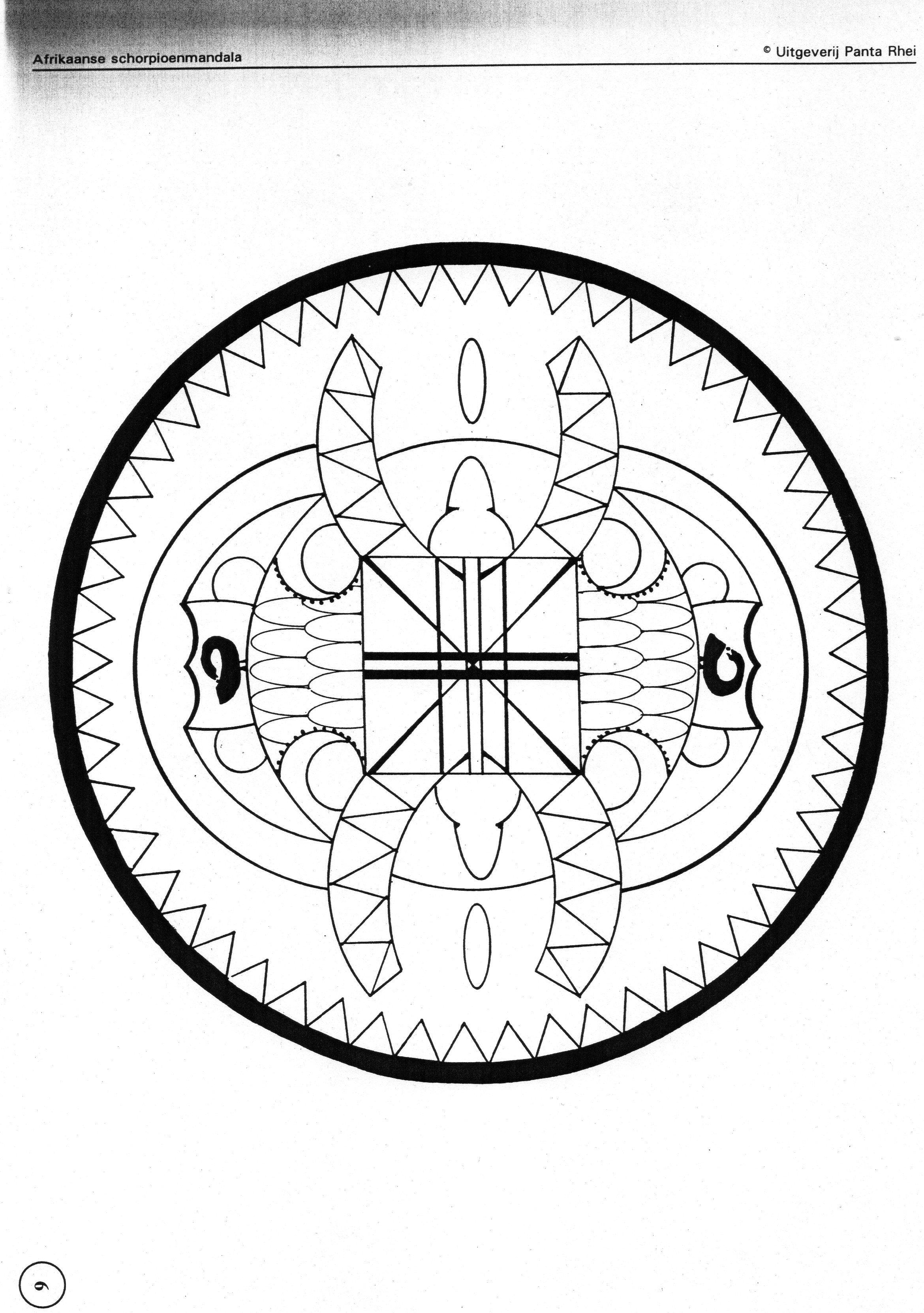 Mandala Sterrenbeelden Kleurplaten.Kleurplaat Schorpioen