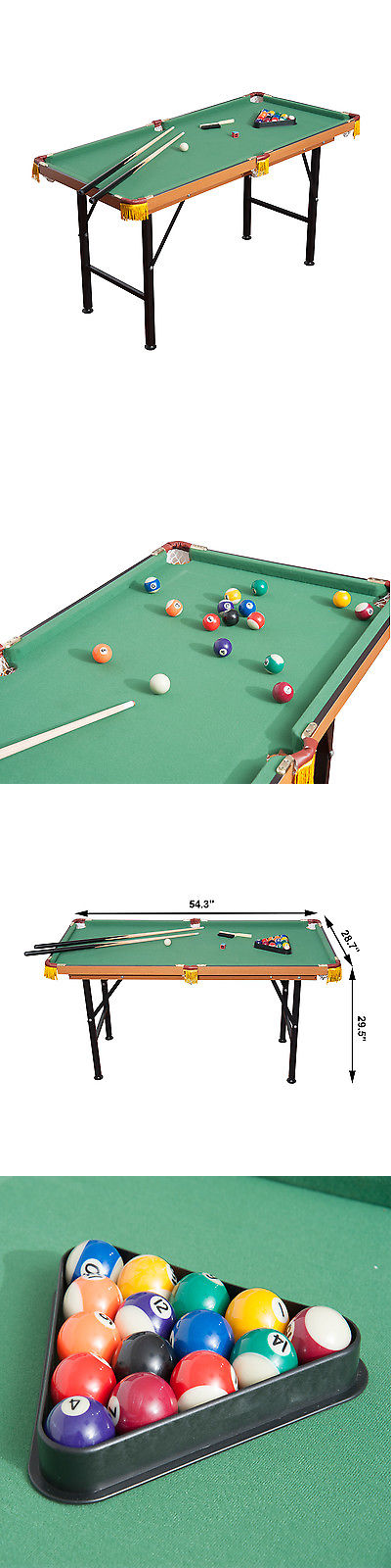 Tables 21213: 4.5Ft Mini Pool Table Portable Tabletop Billiards Board Games  Set Play W