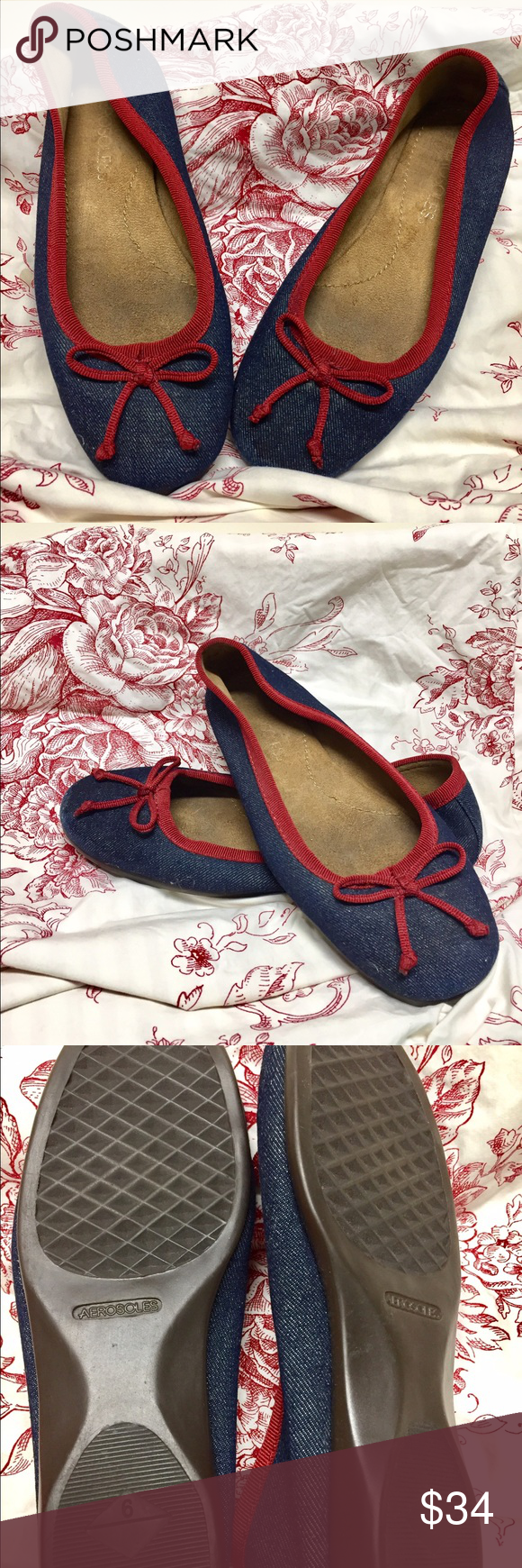 Aerosols Fun Flats 🐰🐰 So fun and comfy! These look great with everything! 🌸🌸 Light wear as bottoms indicate. AEROSOLES Shoes Flats & Loafers