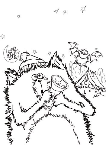 Splat the Cat Good Night, Sleep Tight Coloring page | Coloring pages ...